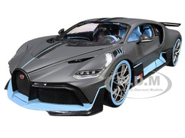 Bugatti Divo Matt Gray Blue Accents 1/18 Diecast Model Car Bburago 11045