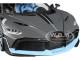 Bugatti Divo Matt Gray Blue Accents 1/18 Diecast Model Car Bburago 11045
