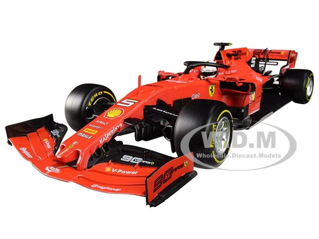 Ferrari SF90 #5 Sebastian Vettel F1 Formula 1 2019 1/18 Diecast Model Car Bburago 16807