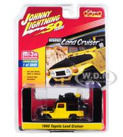 1980 Toyota Land Cruiser Yellow Black Accessories Johnny Lightning 50th Anniversary Limited Edition 3600 pieces Worldwide 1/64 Diecast Model Car Johnny Lightning JLCP7284