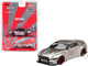 Nissan GT-R R35 Type 1 LB Works LibertyWalk Satin Silver Rear Wing Limited Edition 4800 pieces Worldwide 1/64 Diecast Model Car True Scale Miniatures MGT00049