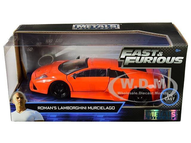Jada JAD30765 Roman/'s Lamborghini Murcielago Neon Orange 1:24 scale
