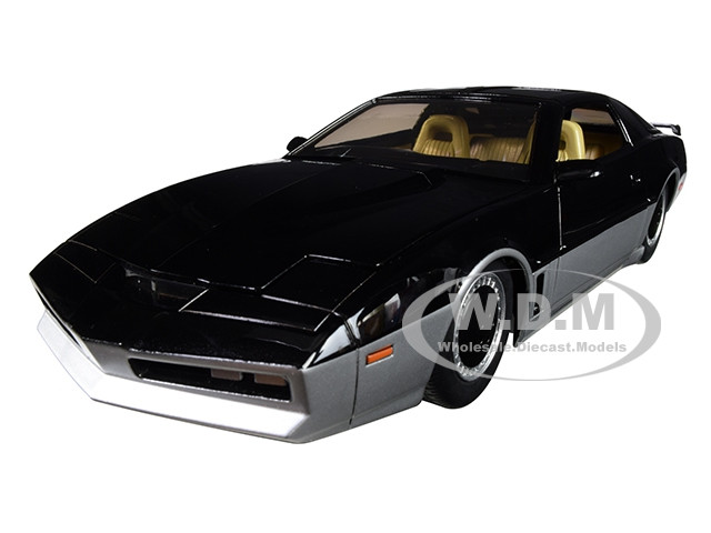 KARR Black Silver with Light Knight Rider 1982 TV Series Hollywood Rides Series 1/24 Diecast Model Car Jada 31115