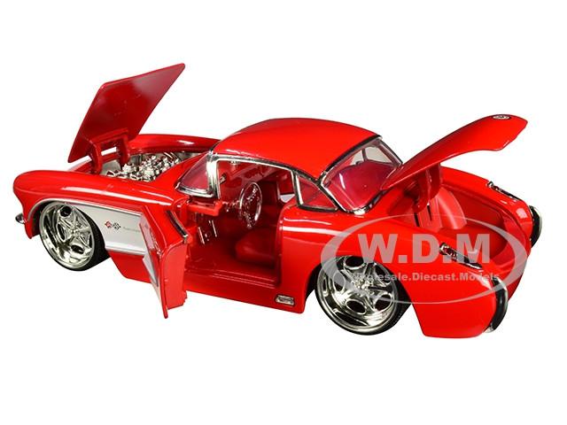 JADA 31451 BIGTIME MUSCLE 1957 57 CHEVY CORVETTE 1//24 DIECAST MODEL CAR RED