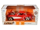 1957 Chevrolet Corvette Red Red Interior Bigtime Muscle 1/24 Diecast Model Car Jada 31451
