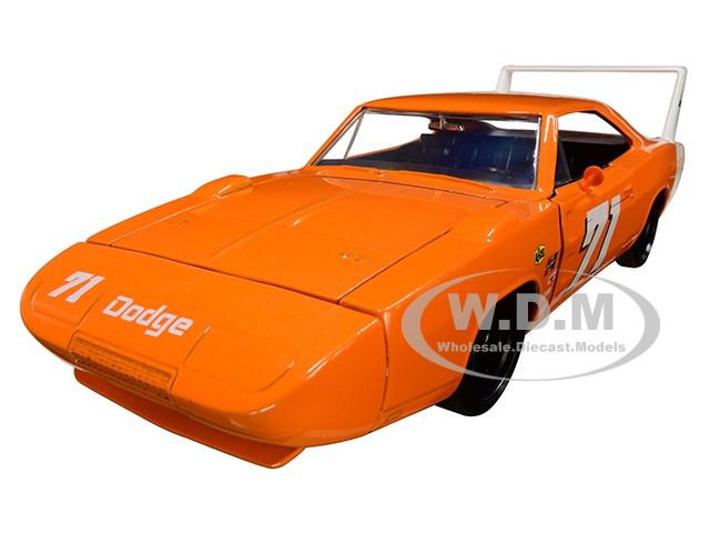 1969 Dodge Charger Daytona #71 Metallic Orange Bigtime Muscle 1/24 Diecast Model Car Jada 31453