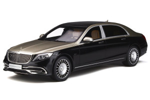 Mercedes Maybach S650 Silver Black 1/18 Model Car GT Spirit GT237