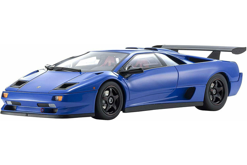 Lamborghini Diablo SVR Blue 1/18 Model Car Kyosho KSR18510BL