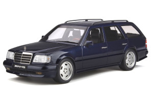 Mercedes Benz S124 AMG E36 Ph3 Azurite Blue Limited Edition 1500 pieces Worldwide 1/18 Model Car Otto Mobile OT753