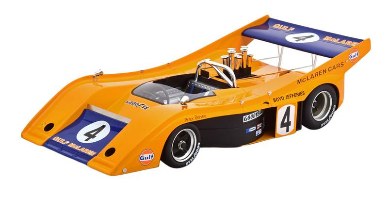 McLaren M20 Can-Am #4 Peter Revson Gulf Oil Road America Elkhart Lake 1972 Mythos Series Limited Edition 130 pieces Worldwide 1/18 Model Car Tecnomodel TM18-57 E