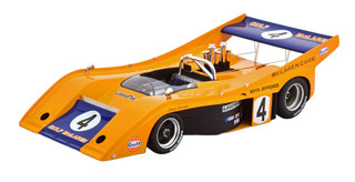 McLaren M20 Can-Am #4 Peter Revson Gulf Oil Road America Elkhart Lake 1972 Mythos Series Limited Edition 130 pieces Worldwide 1/18 Model Car Tecnomodel TM18-57 E