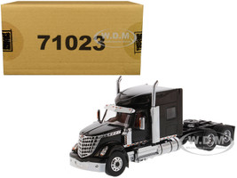 International LoneStar Sleeper Cab Truck Tractor Black 1/50 Diecast Model Diecast Masters 71023
