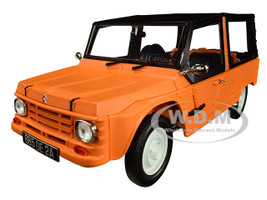 1983 Citroen Mehari Matt Kirghiz Orange Black Top 1/18 Diecast Model Car Norev 181515