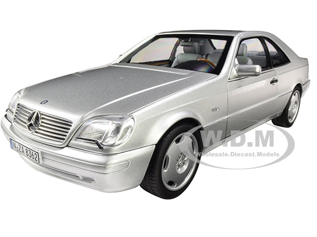 1997 Mercedes Benz CL600 Coupe Metallic Silver 1/18 Diecast Model Car Norev 183446