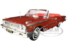 1963 Ford Galaxie 500 XL Open Convertible Chestnut Brown Metallic 1/18 Diecast Model Car Sunstar 1454