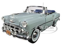 1953 Chevrolet Bel Air Open Convertible Horizon Blue 1/18 Diecast Model Car Sunstar 1625