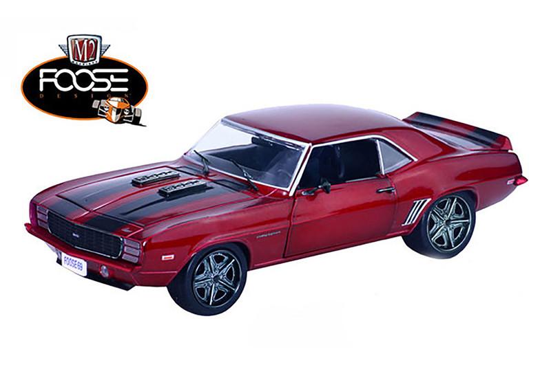 1969 Chevrolet Camaro RS Chip Foose Design Red 1/24 Diecast Model Car M2 Machines 40300-52B