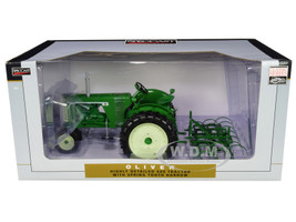 Oliver 660 Narrow Front with Spring Tooth Harrow Green Classic Series 1/16 Diecast Model SpecCast SCT715