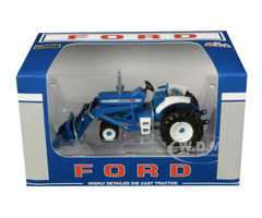 Ford 8000 Narrow Front with Loader Blue 1/64 Diecast Model SpecCast ZJD1835