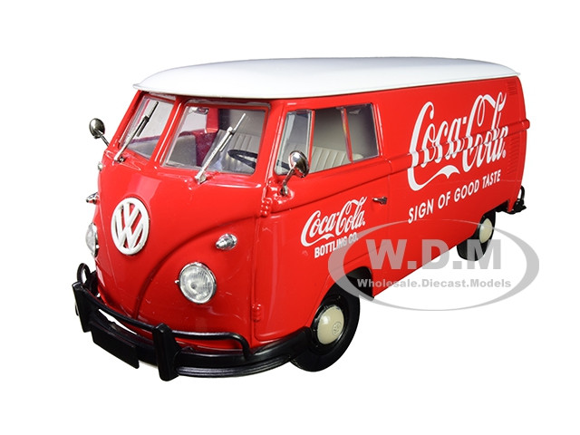 1960 Volkswagen Delivery Van Coca Cola Red White Top Limited Edition 2000 pieces Worldwide 1/24 Diecast Model M2 Machines 50300-RW05