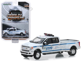 2019 Ford F-350 Lariat Pickup Truck New York City Police Dept NYPD Dually Drivers Series 2 1/64 Diecast Model Car Greenlight 46020 F