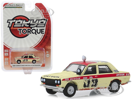1969 Datsun 510 4-Door Sedan #89 Peter Brock Brock Racing Enterprises BRE Mexican 1000 Rally 1969 Unrestored Tokyo Torque Series 7 1/64 Diecast Model Car Greenlight 47050 A
