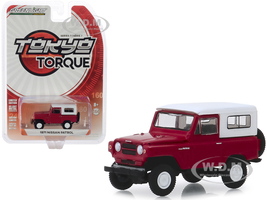 1971 Nissan Patrol Red White Top Tokyo Torque Series 7 1/64 Diecast Model Car Greenlight 47050 C