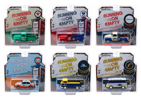 Running on Empty Release 1 Set of 6 pieces 1/43 Diecast Model Cars Greenlight 87010