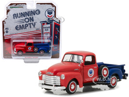 1953 Chevrolet 3100 Pickup Truck Standard Oil Red Blue Running on Empty Release 1 1/43 Diecast Model Car Greenlight 87010 B