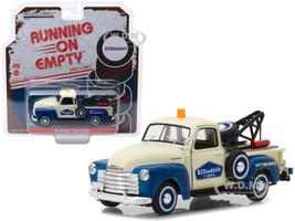 1953 Chevrolet 3100 Tow Truck BFGoodrich Service Cream Blue Running on Empty Release 1 1/43 Diecast Model Car Greenlight 87010 C