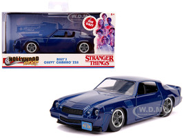 Billy's Chevrolet Camaro Z28 Metallic Dark Blue Stranger Things 2016 TV Series Hollywood Rides 1/32 Diecast Model Car Jada 31113