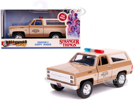 Hopper's Chevrolet Blazer Hawkins Police Dept Stranger Things 2016 TV Series Hollywood Rides 1/32 Diecast Model Car Jada 31114