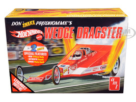 Skill 3 Model Kit Don Snake Prudhomme's Wedge Dragster Coca Cola Hot Wheels Legends of the Quarter Mile 1/25 Scale Model AMT AMT1049