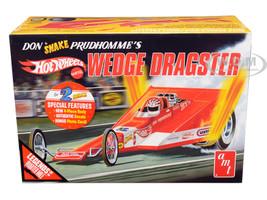 Skill 3 Model Kit Don Snake Prudhomme's Wedge Dragster Coca Cola Hot Wheels Legends of the Quarter Mile 1/25 Scale Model AMT AMT1049