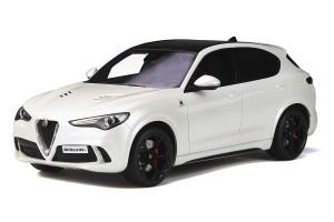 Alfa Romeo Stelvio Quadrifoglio Sunroof White Limited Edition 1500 pieces Worldwide 1/18 Model Car Otto Mobile OT830