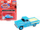 1957 Chevrolet Cameo Pickup Truck Alpine Blue 1/87 HO Scale Model Car Classic Metal Works 30571