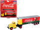 White WC22 Tractor Trailer Coca Cola Yellow Red 1/87 HO Scale Model Classic Metal Works 31187