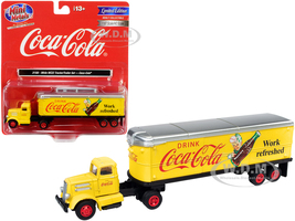 White WC22 Tractor Trailer Coca Cola Yellow 1/87 HO Scale Model Classic Metal Works 31188