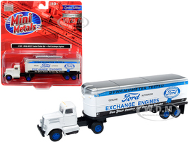 White WC22 Tractor Trailer Ford Exchange Engines White 1/87 HO Scale Model Classic Metal Works 31189
