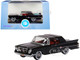 1961 Chrysler 300 Closed Convertible Black Red Interior 1/87 HO Scale Diecast Model Car Oxford Diecast 87CC61002
