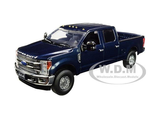 Ford F-250 Crew Cab Super Duty Pickup Truck Blue Jeans Dark 1/50 Diecast Model First Gear 50-3417