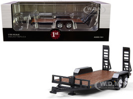 Tandem Axle Tag Trailer Magnetic Gray 1/50 Diecast Model First Gear 50-3421