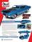 1970 Ford Torino Cobra Medium Blue Metallic Black Hood Hemmings Muscle Machines Magazine Cover Car September 2018 1/18 Diecast Model Car Autoworld AMM1189