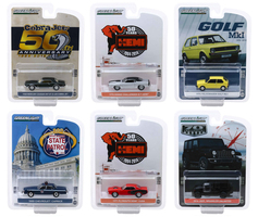 Anniversary Collection Series 9 Set 6 pieces 1/64 Diecast Model Cars Greenlight 28000