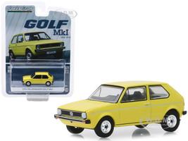 1974 Volkswagen Golf Mk1 Yellow Volkswagen Golf 45th Anniversary 1974 2019 Anniversary Collection Series 9 1/64 Diecast Model Car Greenlight 28000 C