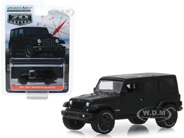 2016 Jeep Wrangler Unlimited Black 75th Anniversary Edition Anniversary Collection Series 9 1/64 Diecast Model Car Greenlight 28000 F