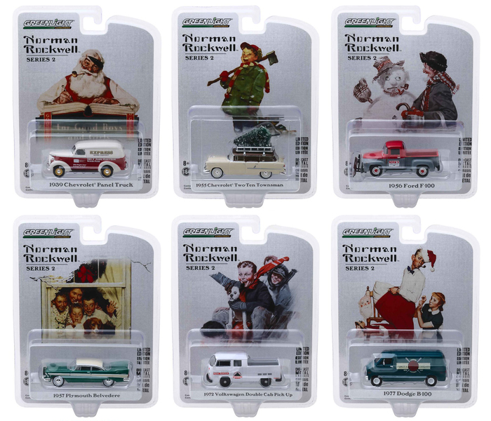 Norman Rockwell Series 2 Set of 6 pieces 1/64 Diecast Model Cars Greenlight 54020