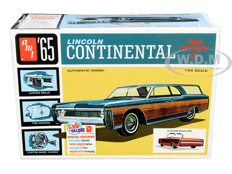 Skill 2 Model Kit 1965 Lincoln Continental 3 in 1 Kit 1/25 Scale Model AMT AMT1081