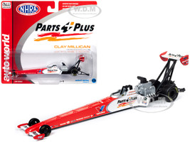 2019 NHRA TFD Top Fuel Dragster Clay Millican Parts Plus 1/64 Diecast Model Car Autoworld AW64006 AWSP026