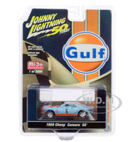 1968 Chevrolet Camaro SS #6 Gulf Oil Light Blue Orange Limited Edition 2400 pieces Worldwide 1/64 Diecast Model Car Johnny Lightning JLCP7240